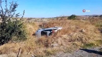 Malkara'da otomobil şarampole uçtu: 1 yaralı