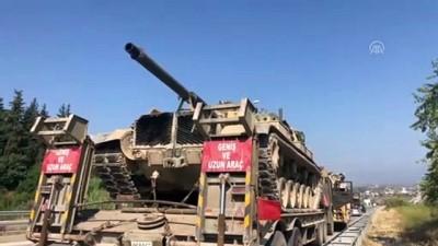 Suriye sınırına tank ve zırhlı araç sevkiyatı - HATAY
