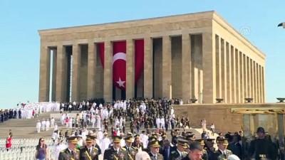 Büyük Zaferin 97. yıl dönümü - Vatandaşlar Anıtkabir'i ziyaret etti - ANKARA