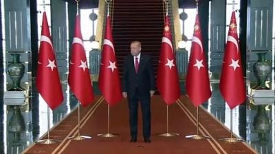 Büyük Zafer'in 97. yıl dönümü - Cumhurbaşkanı Erdoğan, tebrikleri kabul etti (1) - ANKARA