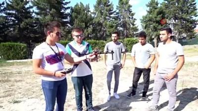 Üniversite öğrencileri kendi yaptıkları drone ile yarışmaya katılacak