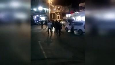 5 kişinin yaralandığı silahlı kavgada 3 tutuklama...Olay anı kamerada