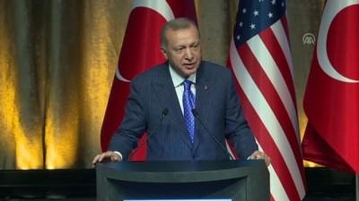 Cumhurbaşkanı Erdoğan: 'İslamla, insanlıkla hiçbir alakası olmayan bazı terör örgütleri üzerinden, hak ve özgürlük taleplerimiz boğulmaya çalışılıyor' - NEW YORK