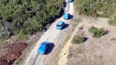 Jandarmanın uyuşturucu operasyonu havadan görüntülendi