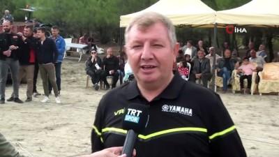 Pirinç festivalinde motokros gösterileri nefesleri kesti