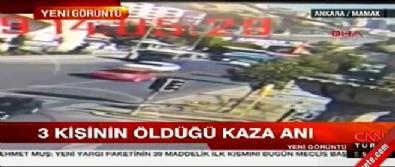 Ankara'da 3 kişinin öldüğü otobüs kazası kamerada