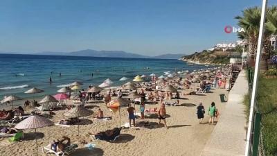 Aydın'da sahillerde yoğunluk devam ediyor