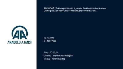 Tekirdağ'da doğal gaz bulunması - TEKİRDAĞ