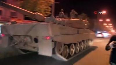 Sınıra çok sayıda tank ve zırhlı araç sevk edildi
