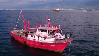 Gemide asker selamıyla 29 Ekim kutlaması - HATAY