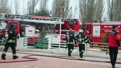 Tadilat yapılan özel okulda yangın - BOLU