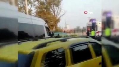 Şehirlerarası yola mazot döküldü, çok sayıda araç kaza yaptı