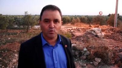 - 'Tapulu arazim' dedi asfaltın ortasına hafriyat döküp, zeytin fidanı dikti
