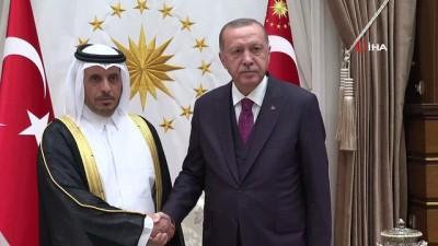Cumhurbaşkanı Erdoğan, Katar Başbakanı Şeyh Abdullah bin Nasır bin Halife el-Sani'yi kabul etti