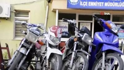 Şuhut'ta tescilsiz motosikletlere ceza yağdı