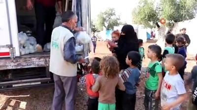 - Çadır kentlere meyve dağıtıldı