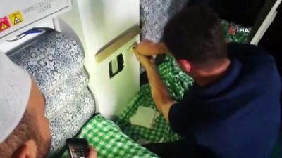 Havalandırma bacasına sıkışan güvencini itfaiye kurtardı