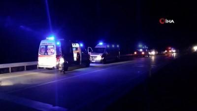 Edirne'de otobüs tarlaya uçtu: 7 Yaralı