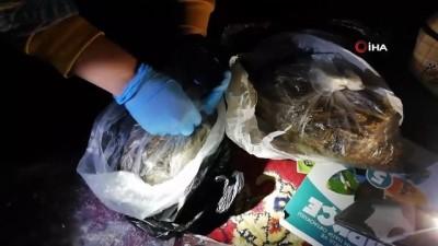 Narkotik operasyonunda uyuşturucu esrar ve metamfetamin maddesi ele geçirildi