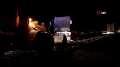 Yolcu otobüsü kar küreme aracıyla çarpıştı :1 ölü