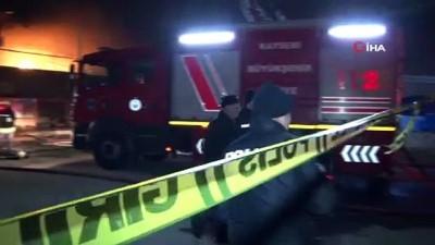 Kayseri'deki patlayan elektrik trafosu yatak imalathanesini küle çevirdi