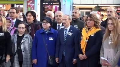 Türk tarihinin ilk kadın mitinginin yüzüncü yılı Taksim'de kutlandı