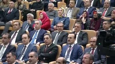 Cumhurbaşkanı Erdoğan:'Çıkmış belediye başkanları diyor ki, Kanal İstanbul buraya uymaz. Sen otur işine bak. Nasıl uyduğunu göreceksin, bütün bunların çalışmalarını gayet iyi yaptık'