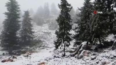 Mersin'in yüksek kesimlerine mevsimin ilk karı düştü