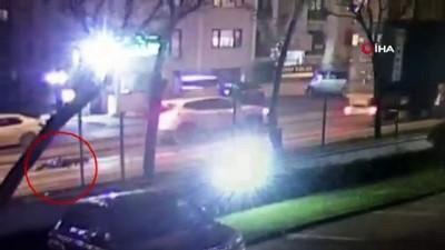 Hadımköy'de motosikletli kuryenin feci ölümü kamerada