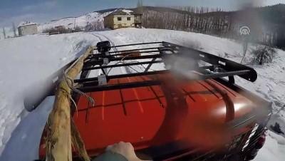 Kesintisiz enerji için çetin kış koşullarıyla savaşıyorlar - KAHRAMANMARAŞ