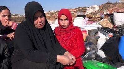 - Esad'ın saldırılardan kaçan siviller kalacak çadır bile bulamıyor