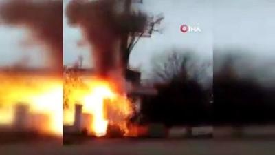 Trafo patlaması mahalleliye büyük panik yaşattı