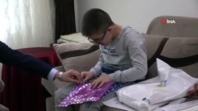 DMD hastası Mehmet Ali'nin karne sevinci