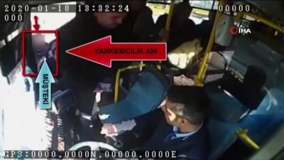 Otobüse binme bahanesiyle yolcunun telefonunu çaldı