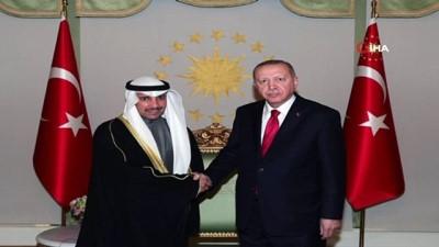 Cumhurbaşkanı Erdoğan Kuveyt Ulusal Meclis Başkanı Marzuk Ali El Ganim'i kabul etti