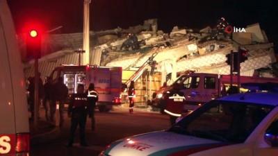 Gezin'de yıkılan binada enkaz altında kalan vatandaşları kurtarma çalışmaları devam ediyor