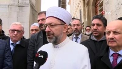 Diyanet İşleri Bakanı Erbaş, Malatya'da hasar gören camiyi inceledi