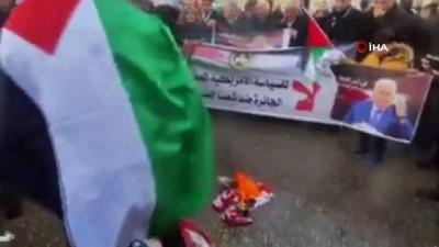 """- Batı Şeria'da """"Yüzyılın Anlaşması"""" protesto edildi"""