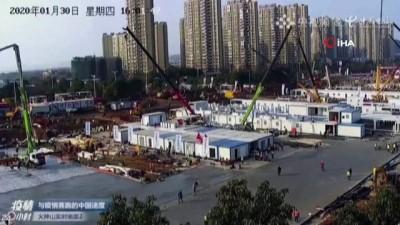 - Wuhan'daki ikinci hastanenin inşaatı devam ediyor