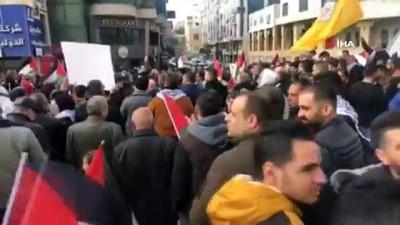 - Filistin'de Orta Doğu Planı Protestosu: 18 Yaralı