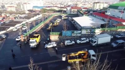 Sultanbeyli'de mobil belediye saha ekiplerinin çalışmaları böyle görüntülendi