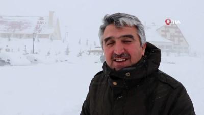 Yıldızdağı'nda kar kalınlığı 1 buçuk metreyi aştı