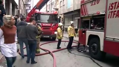 Bayrampaşa'da iplik fabrikasında yangın