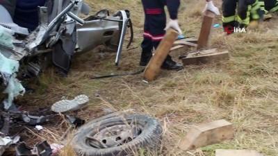 Tekirdağ'da feci kaza: 1 ölü 4 yaralı