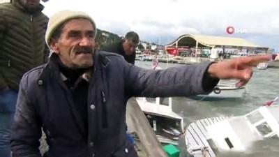 Şiddetli fırtına balıkçı teknelerini batırdı