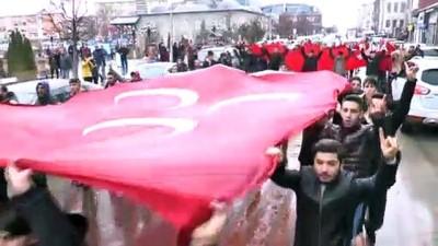 Ülkücüler kar yağışı altında İdlib şehitleri için yürüdü