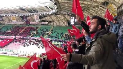 İdlib şehitleri, Konyaspor-Kasımpaşa maçında unutulmadı - KONYA