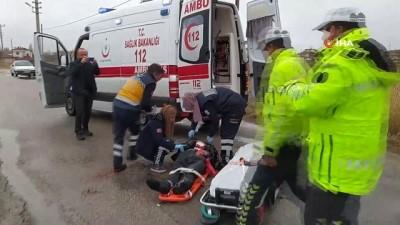 Elektrikli mopedden düşen yaşlı adam ağır yaralandı