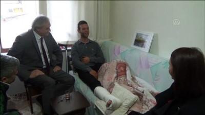 İdlib'deki saldırıda yaralanan askere ziyaret - BİLECİK