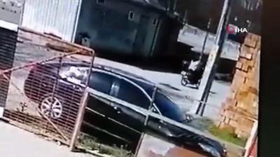 Motosikletini satmak için buluştuğu kişi test sürüşünde motosikleti çaldı...O anlar kamerada